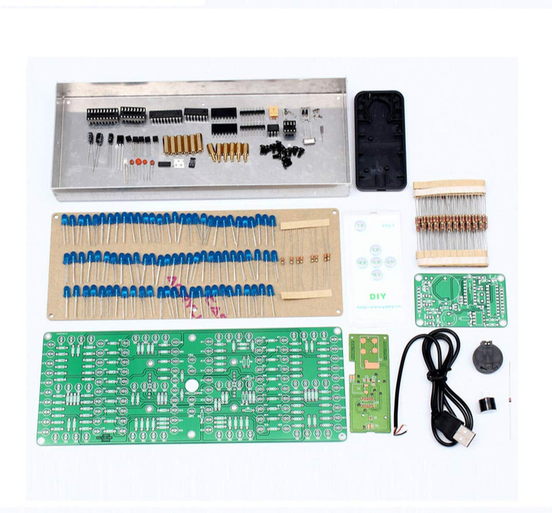 132pcs 5mm LEDs Display Timer ECL-132 DIY Kit Clock Timer Blue Screen Display Kits Electronic Suite with Patch Remote Control by DONGKER