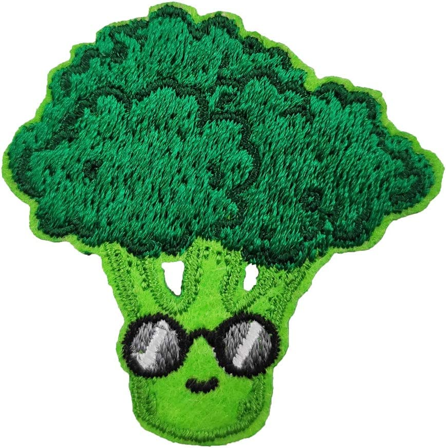 Broccoli Mini Embroided Iron on Patch Cute Mini Applique Funny Vegetable Food Pin DIY