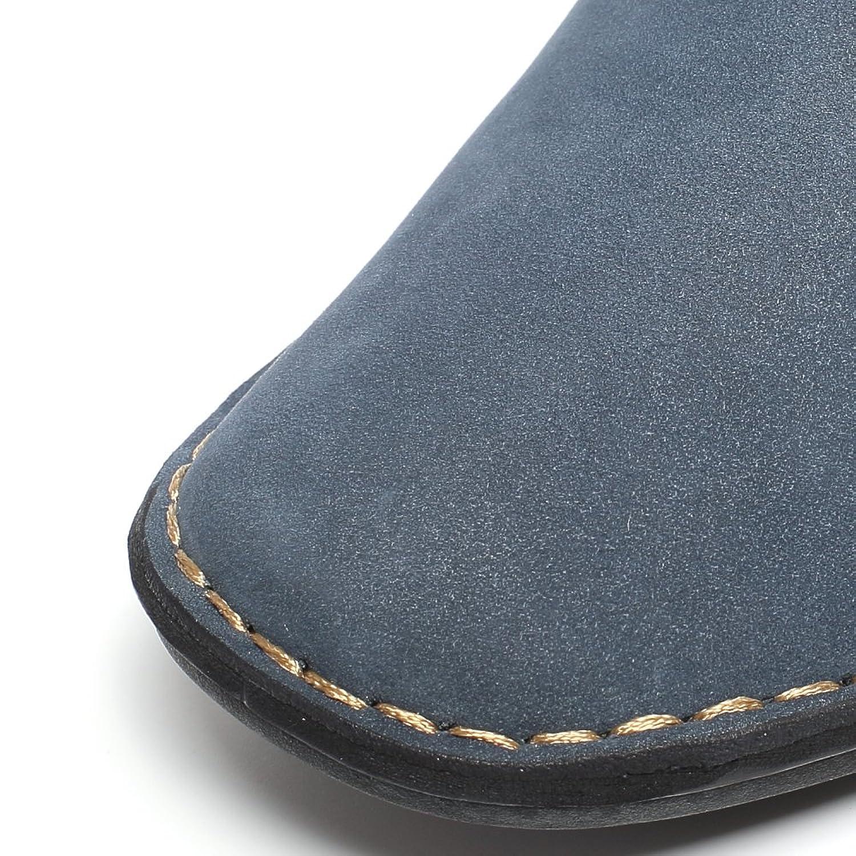 CHAMARIPA Zapatos con Cordones de Cuero Hombre,Negro y Azul - 6,5 cm Más Alto - X58H56 (42, Azul)