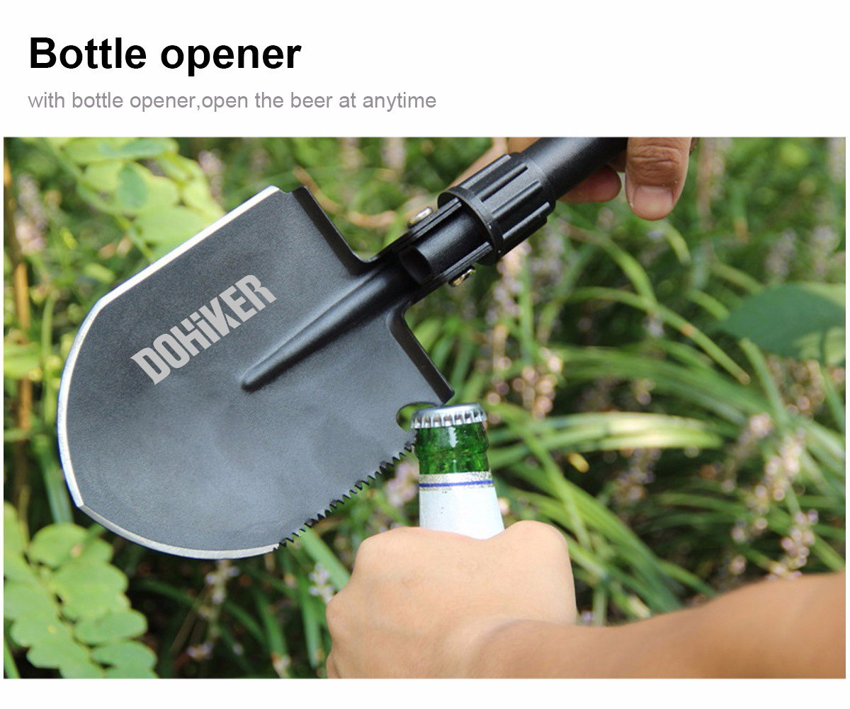 Dohiker Military Folding Shovel,Shovel Survival Spade Entrenching Tool with Carrying Pouch Metal Handle for Camping, Hiking, Trekking, Gardening,Fishing,Backpacking by Dohiker (Image #7)