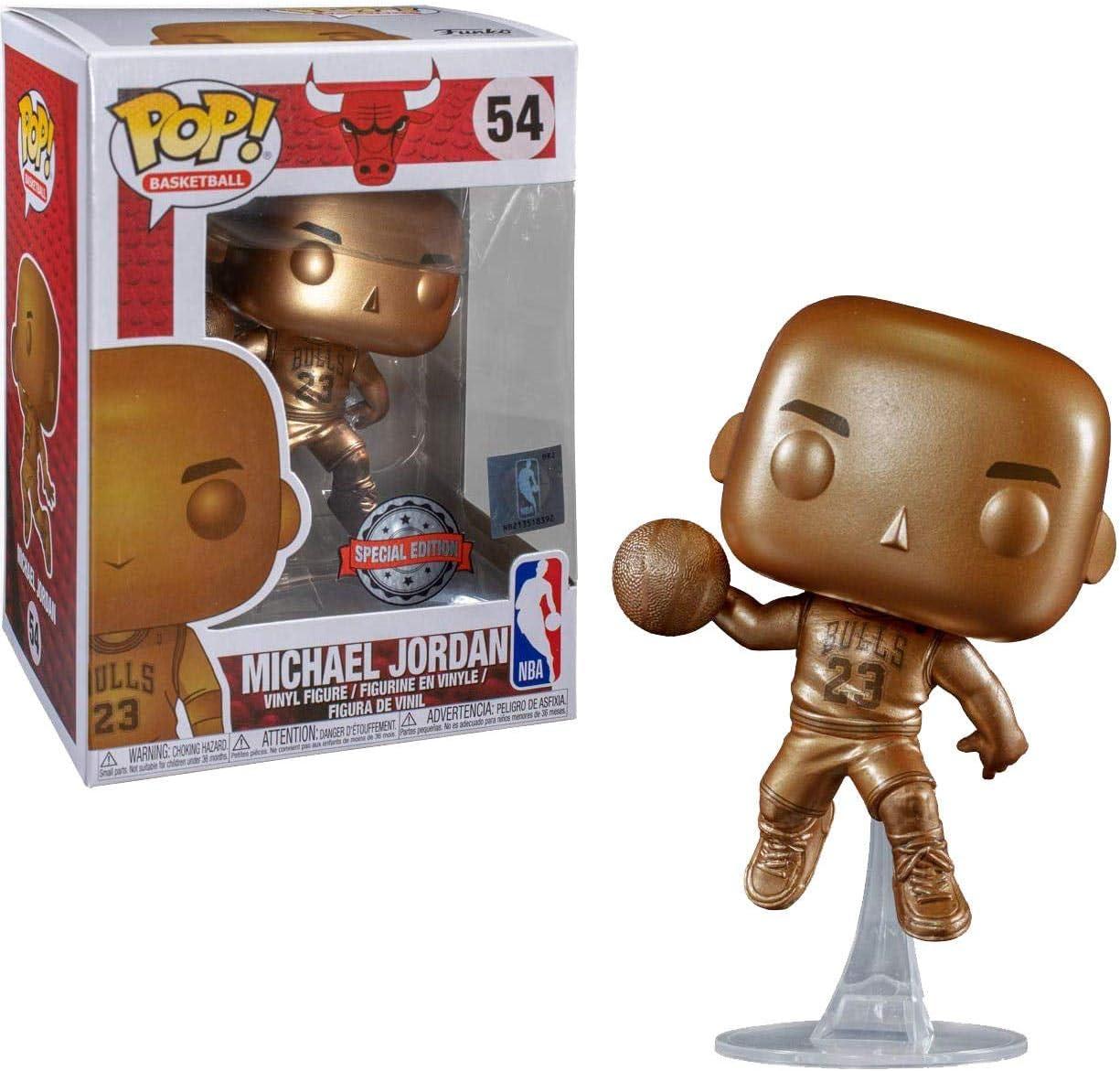 Propuesta Teoría establecida madera  Funko Figura Pop Michael Jordan Bronzed Exclusivo - NBA: Amazon.es ...