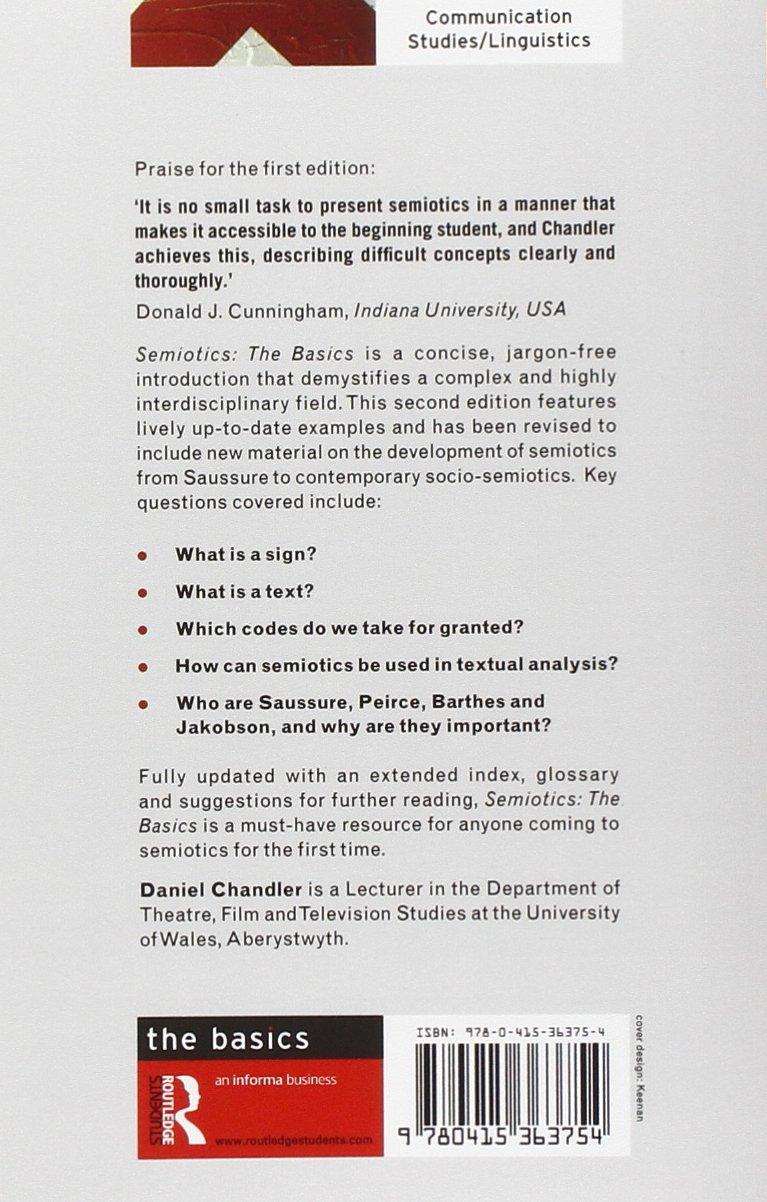 Semiotics: The Basics: Amazon.de: Daniel Chandler: Fremdsprachige Bücher