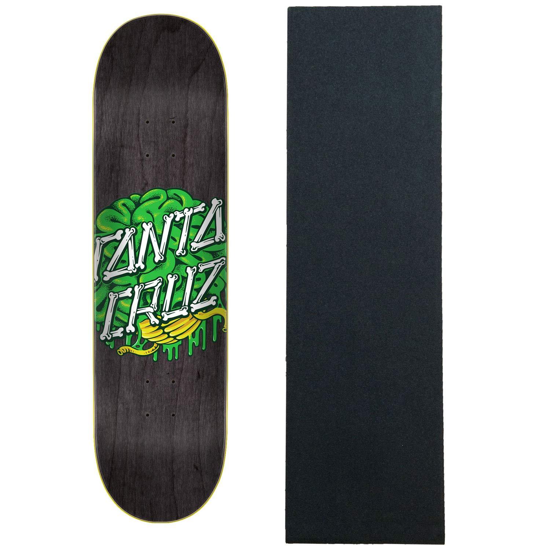 Santa Cruz スケートボードデッキ 8.25インチ ブレインドット 8.25インチ Santa グリップ付き Cruz B07K7VJ4PQ, モーム/ソファテーブルベッド:396b9a47 --- grupocmq.com