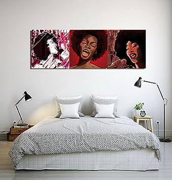 LB Sängerin afrikanische Frau Leinwandbild Wandkunst für Wohnzimmer ...