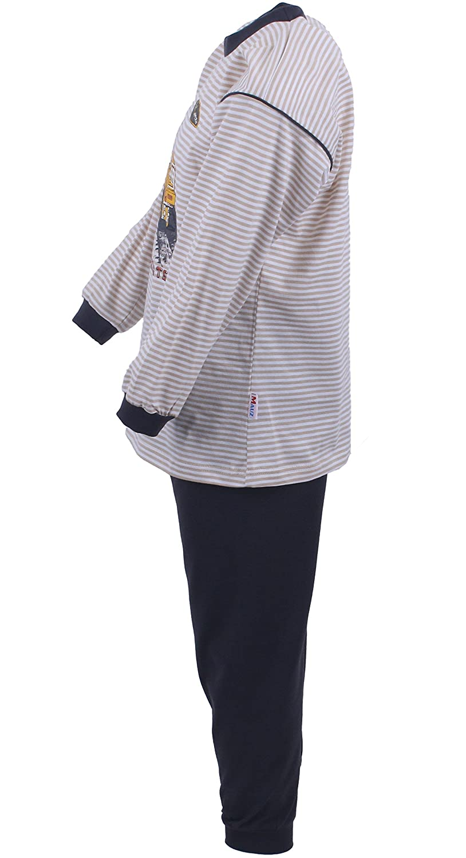 116 98 2 tlg 80 Mauz 92 104 Beige 80 86 Kinderschlafanzug Pyjama Schlafanzug Radlader Kitt 100/% Baumwolle Gr