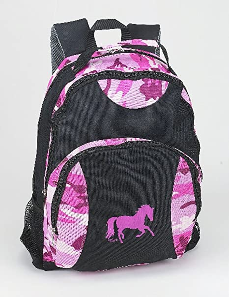 Amazon.com: Pink Camo Horse Backpack: Sports