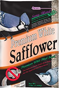 F.M. Brown'S Song Blend Premium Safflower Seeds For Pets, 3-Pound, White