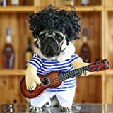 Idepet Pet Halloween Costume Funny Guitar Dog Costume Dressing Up Pet Clothes Suit for Puppy Small Medium Dogs Chihuahua Tedd
