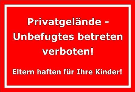 Cartel Privado terreno - unbefugtes Betreten verboten - 15 x ...