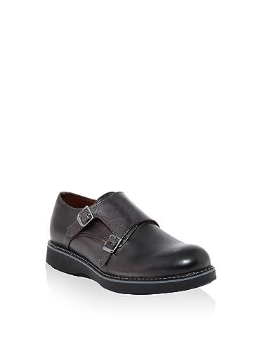 LE DUCCIO Zapatos Monkstrap Antracita EU 39 W6yNuP97Nd