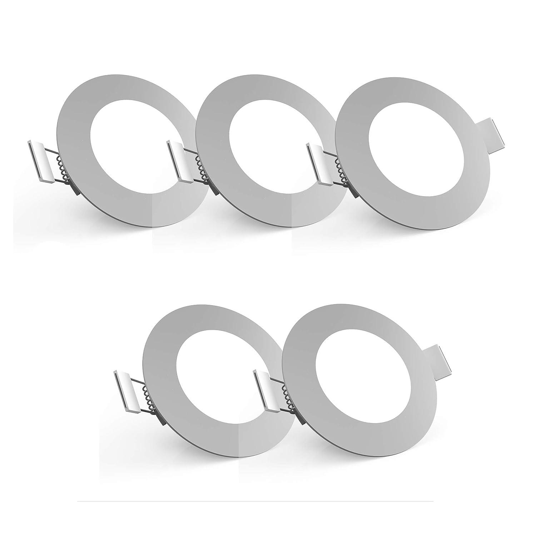 /Ø 85 mm B.K.Licht lot de 5 spots encastrables ultra minces platines LED int/égr/ées 230V profondeur dencastrement 30mm éclairage plafond platines LED intégrées Ø 85 mm BKL1062 IP23 blanc chaud /éclairage plafond 5x5W