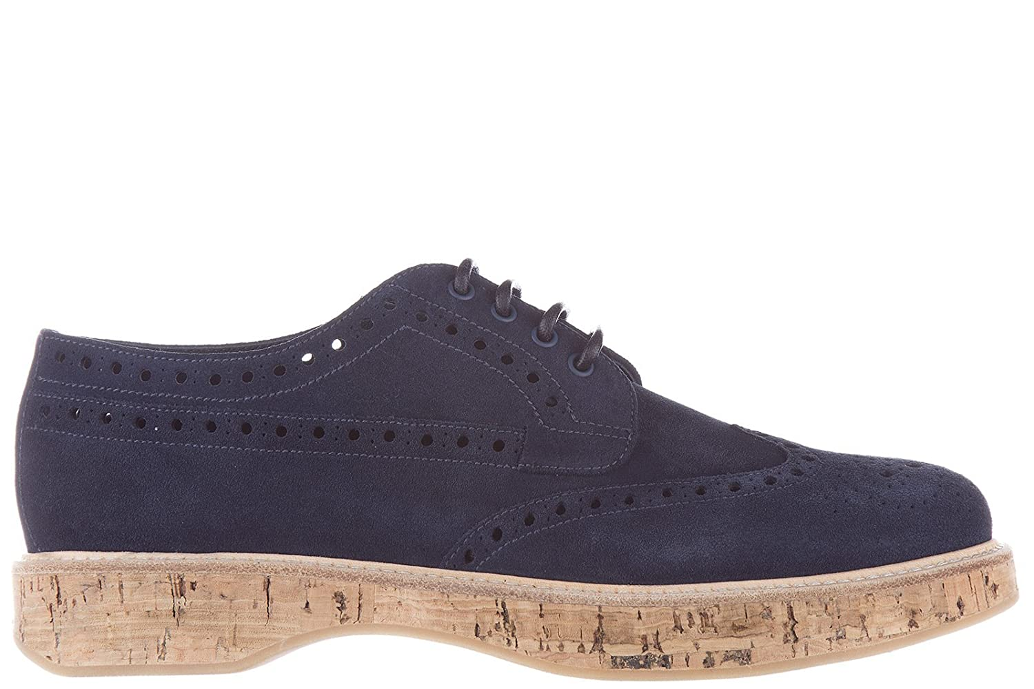Church's women's classic suede lace up laced formal shoes blu