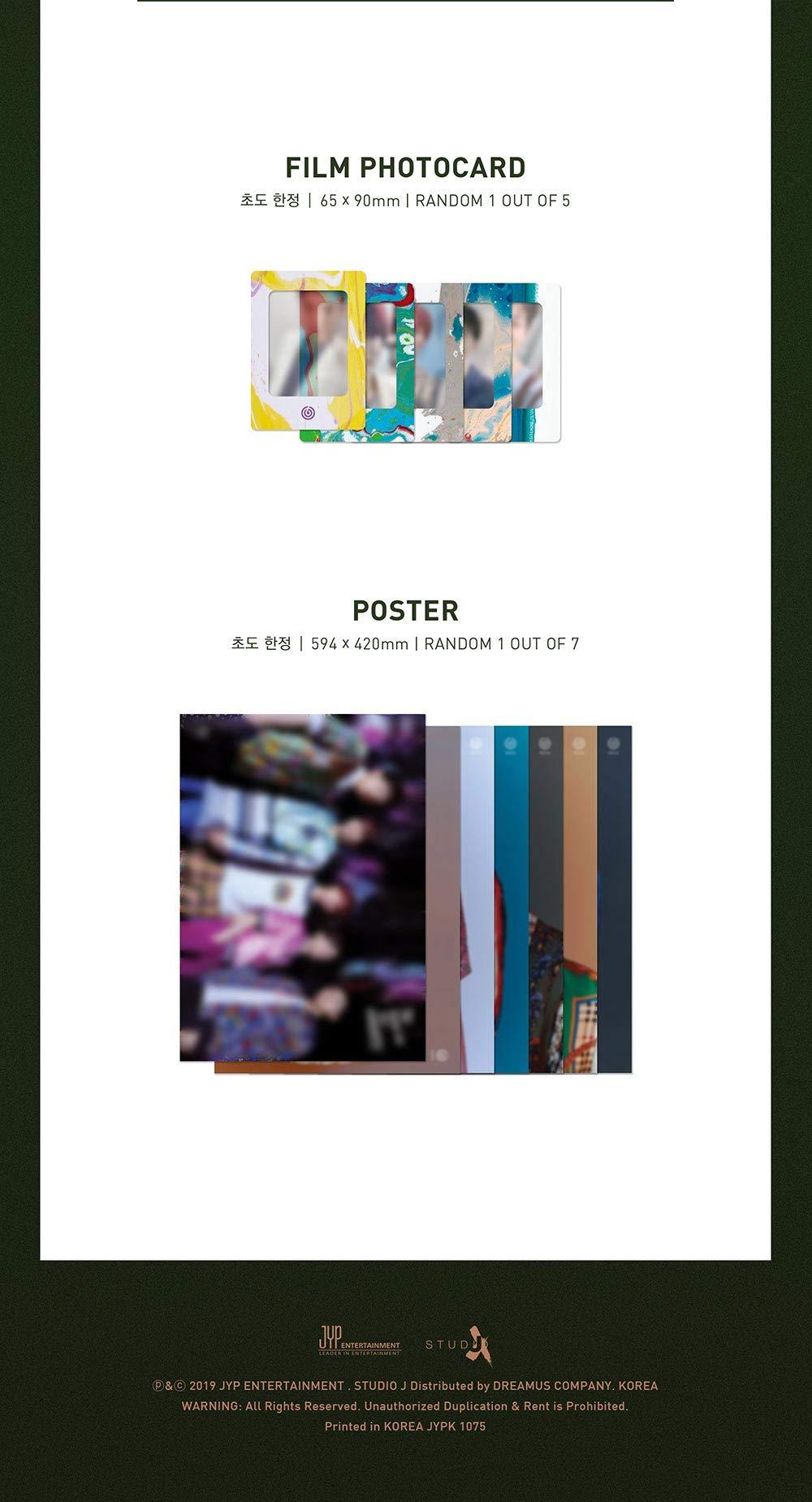 JYP Entertainment DAY6 - The Book of Us : Gravity [Random ver.] (5th Mini Album) CD+80p Photobook+2Photocard+Postcard+Bookmark+Film Photocard+Folded Poster+Double Side Extra Photocards Set
