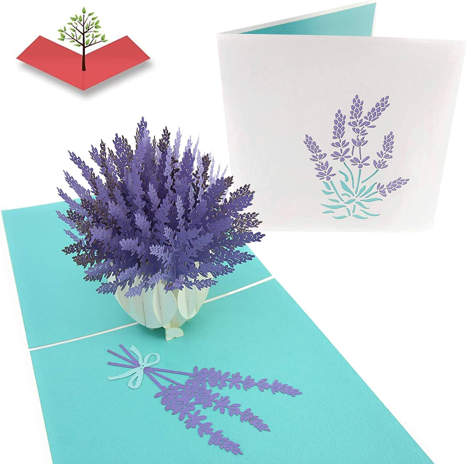 Poplife French Lavender Pop Up Mothers Day Card Happy Anniversary Pop Up Birthday Card For Mom For Daughter For Grandaughter For Wife For Sister For Grandma Get Well Sympathy Thank