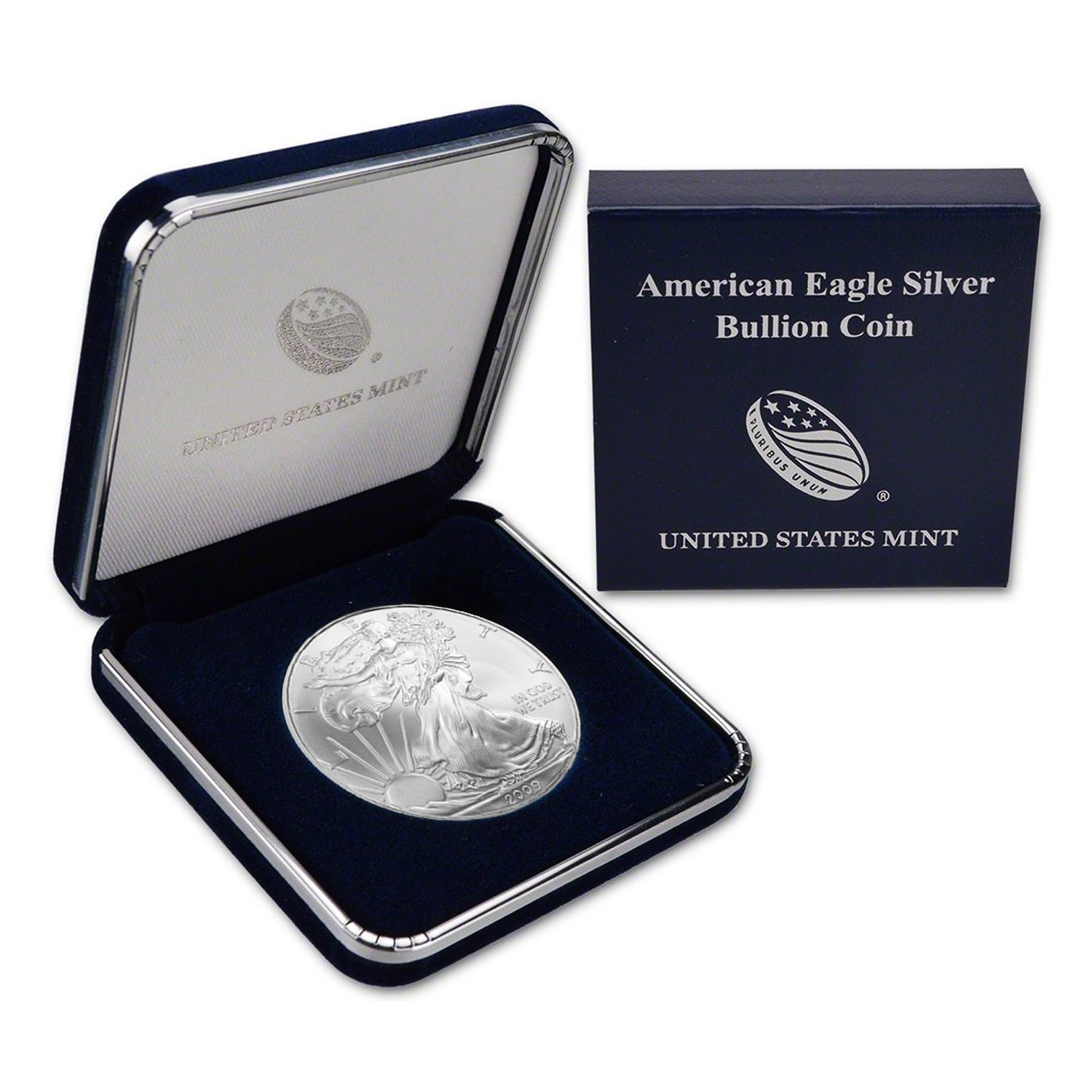2009 $1 American Silver Eagle In US Mint Gift Box Includes Air-Tite Holder