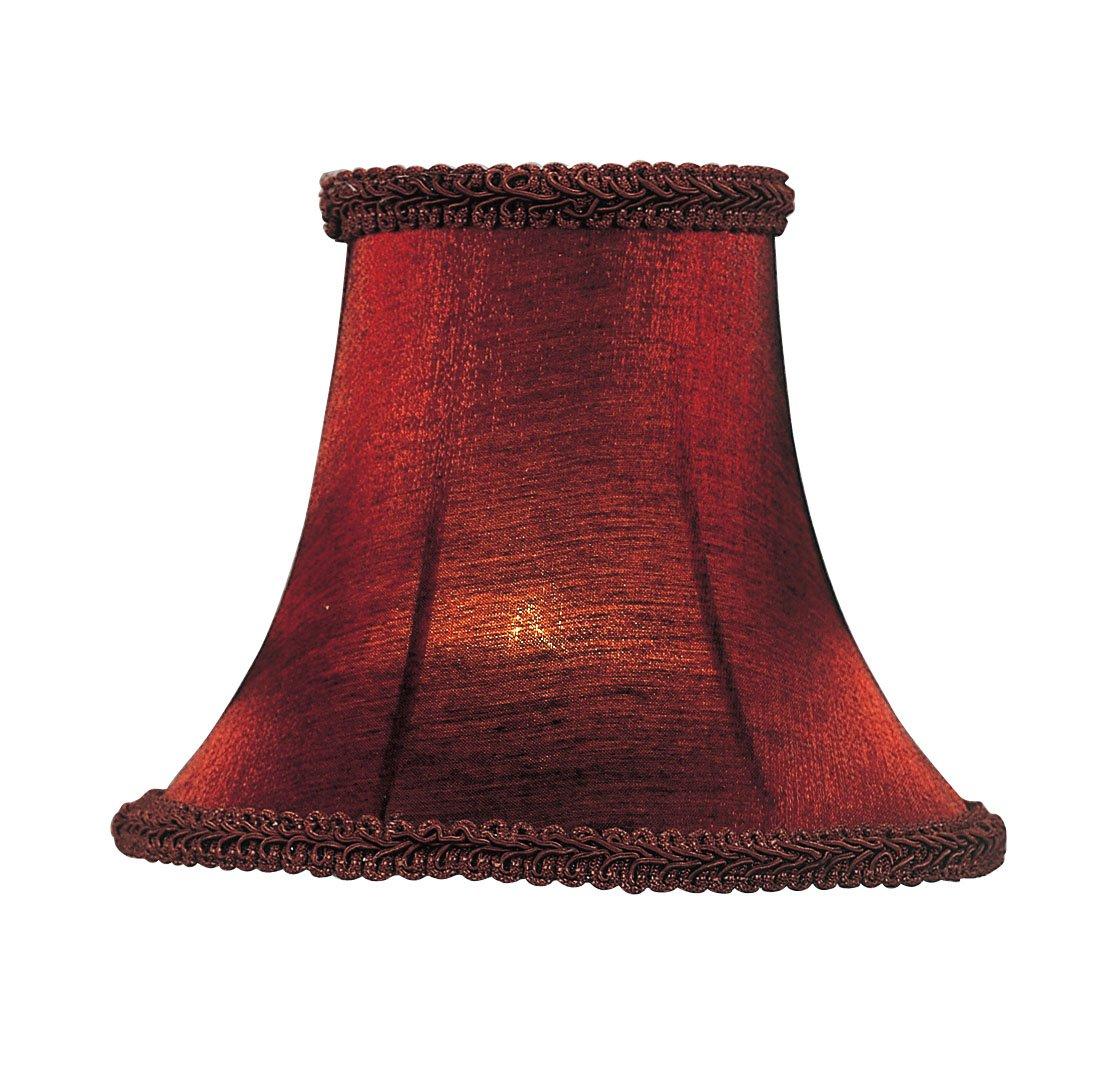 Livex Lighting S157 Bell Clip Chandelier Shade, Red Silk