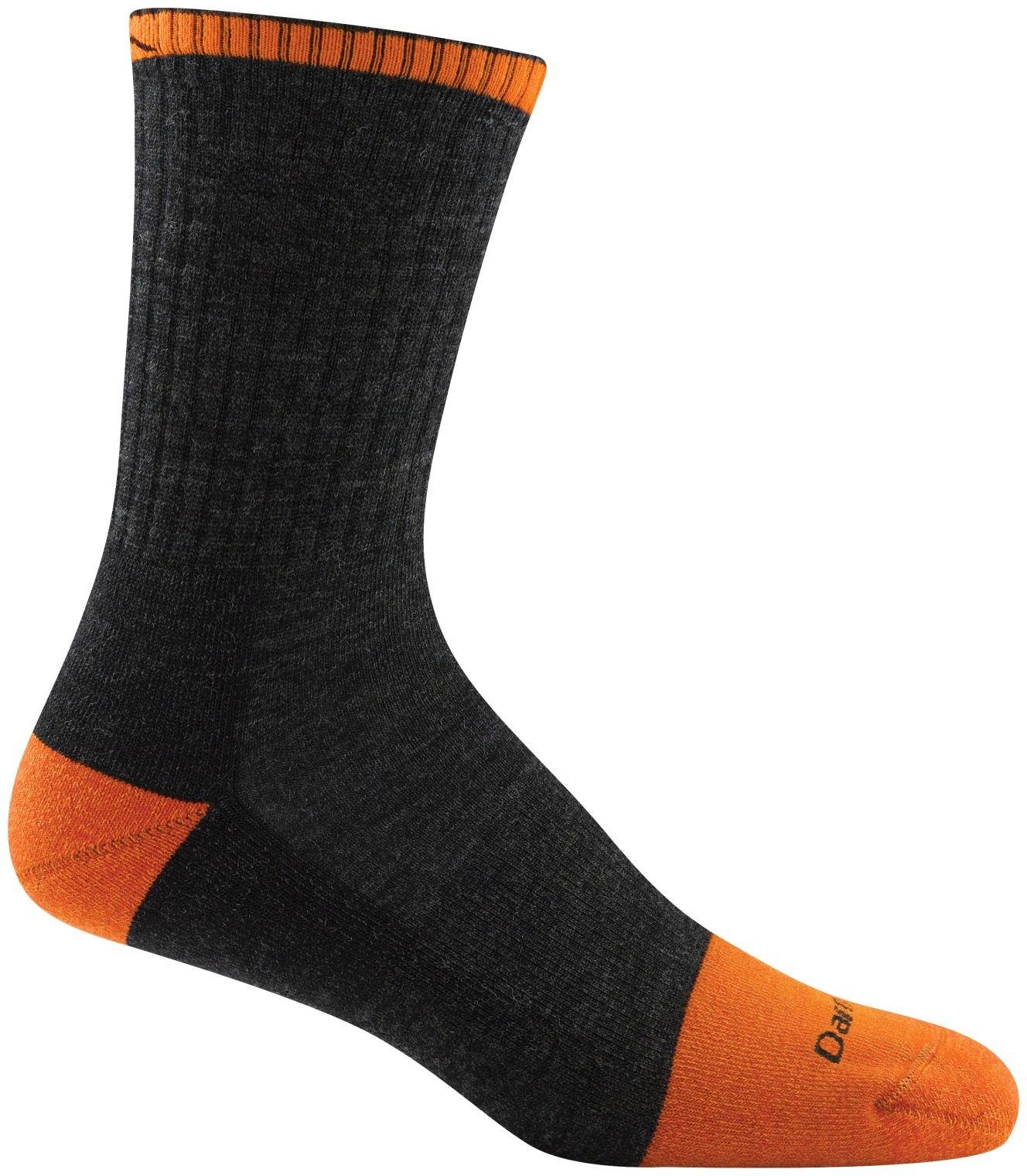 Darn Tough Steely Micro Crew Cushion Socks - Men's Graphite Medium by Darn Tough
