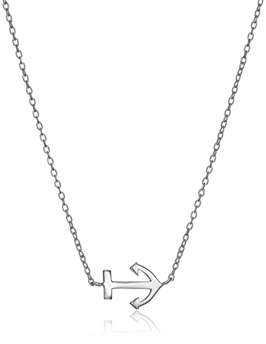 Amazon Com Sterling Silver Anchor Necklace And Earrings Jewelry Set
