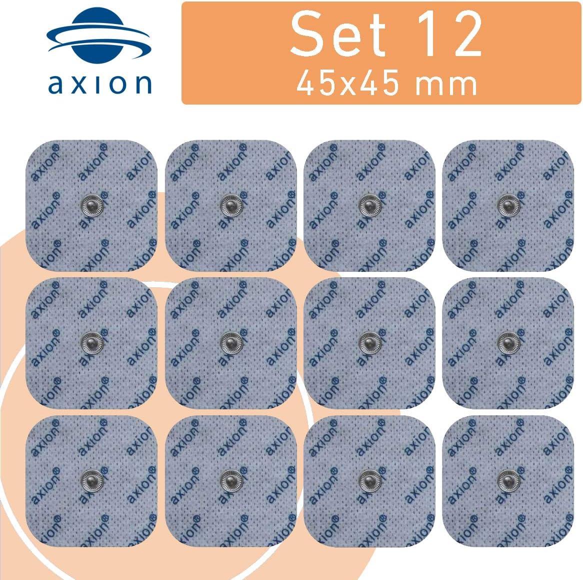 12 Electrodos de 4,5x4,5 cm - para su aparato TENS EMS electroestimulador VITALCONTROL & Beurer - axion