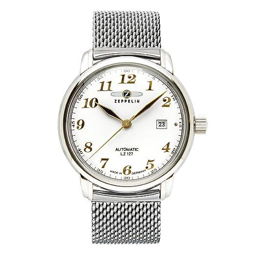 Zeppelin Watches - Reloj analógico automático para hombre con correa de acero inoxidable: Amazon.es: Relojes