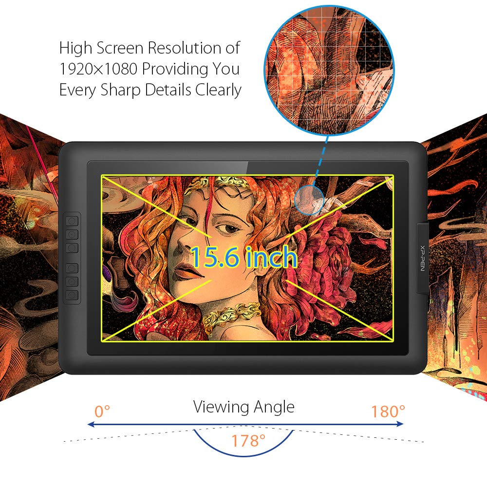 Xp Pen Artist156 156 Inch Ips Drawing Monitor Little Nighmares Region 3 Display Graphics Digital With Battery Free Passive Stylus 8192 Levels Pressure