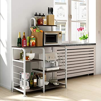 Amazon.com: Panzisun Multifunctional 4-Shelf Shelving ...
