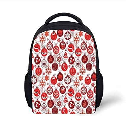 2b9d46efab Amazon.com  iPrint Kids School Backpack Christmas Decorations ...