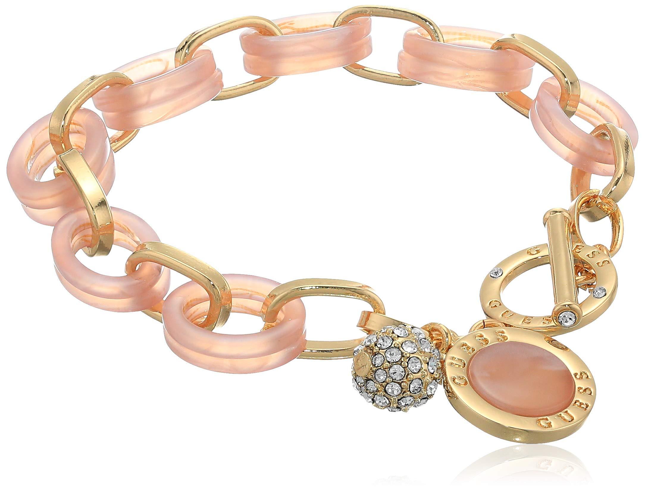 GUESS Women's Toggle Bracelet, Mauve, One Size