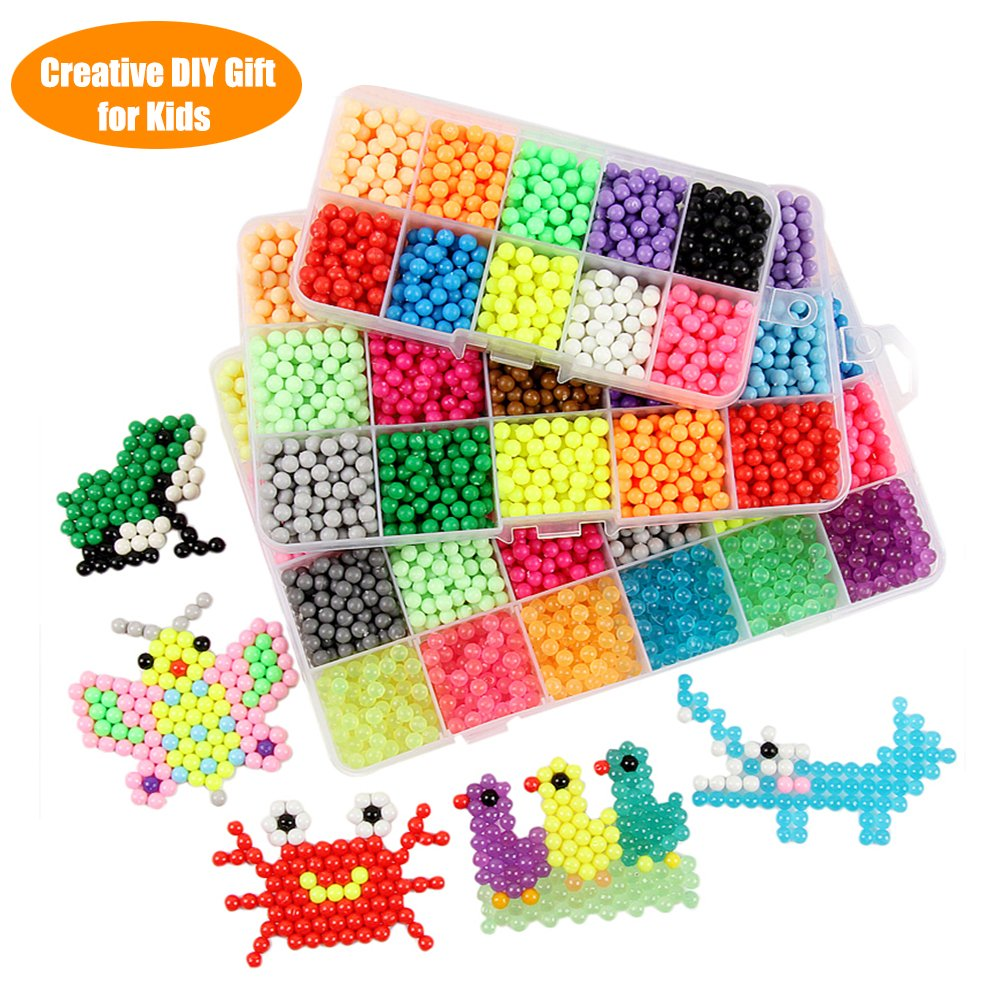 Fuumuui 10 Colors Fuse Beads Kit Creative Gift Toy for Kids with Different DIY Pegboard Set, Ideal for 3 4 5 6 7 8 9 10 11 12 Year Old Girls Boy Gifts