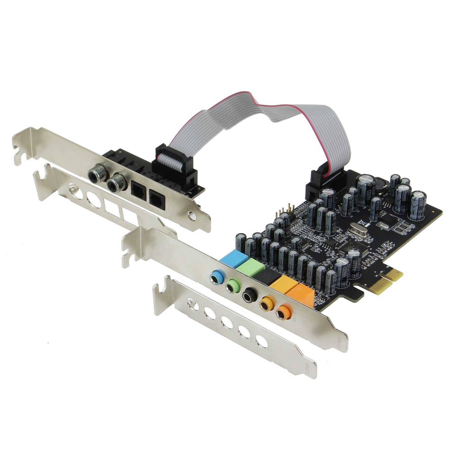 SEDNA - SE-PCIE-SC-10 PCIe 7.1 Channel Sound card ( CM8828 + CM9882A ) with SPDIF Bracket ( Standard and Low Profile brackets are included )