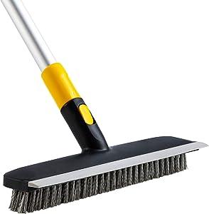 Yocada Floor Scrub Brush 2 in 1 Scrape Brush Stiff Bristle 51
