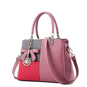 Las mujeres bolsos de lujo señoras marcas famosas cajas de empalme hembra Bolso Business Package Designer Crossbody hombro bolsas de caucho puro rosa,rosa ...