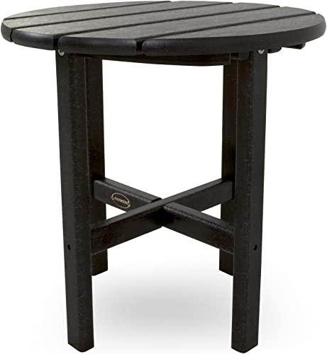 POLYWOOD RST18BL Round 18″ Side Table
