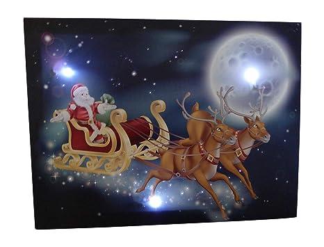 Immagini Di Babbo Natale Con La Slitta E Le Renne.Uk Gardens Babbo Natale Sulla Slitta Con Renne Festive Foto