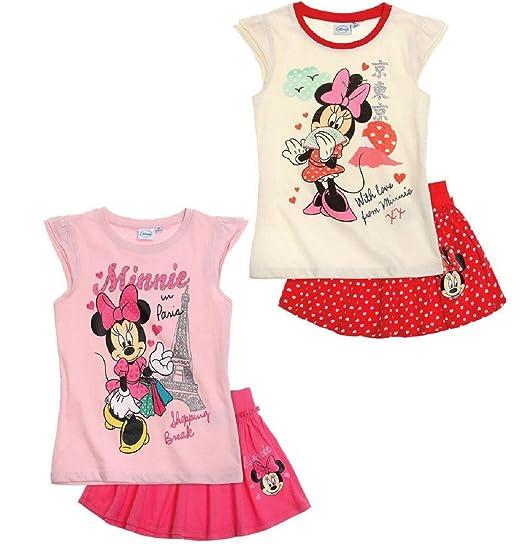 Minnie Conjunto Disney Camiseta y Falda (6 años, Rojo): Amazon.es ...