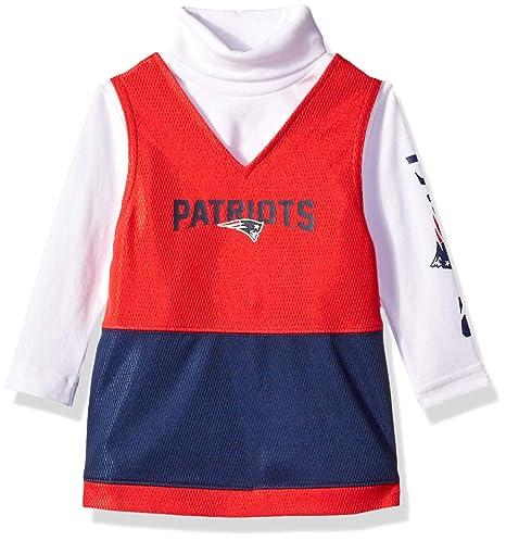 00847fedb Amazon.com : NFL New England Patriots Baby-Girls Jumper Set, Blue ...