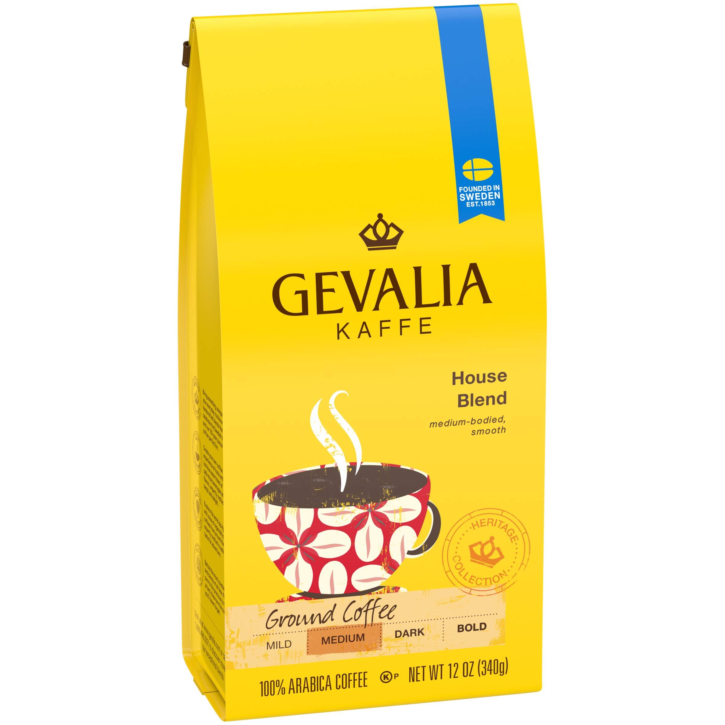 Gevalia House Blend Ground Coffee (12 oz Bags, Pack of 6) by Gevalia