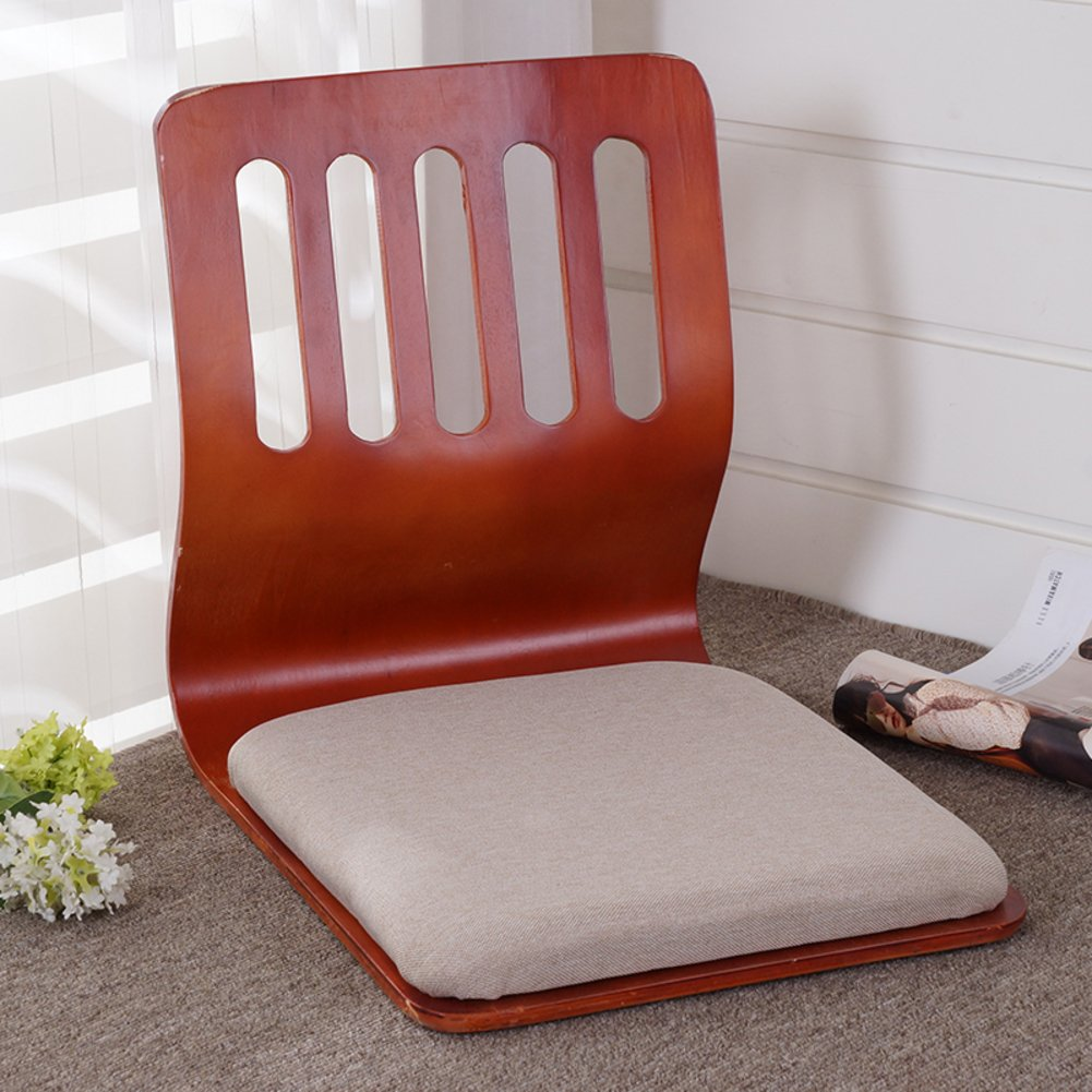 QIQ Tatami Room Chair,Bed Dormitory Back Chair Japanese Legless Chair Bay Window backrest Chair Lazy Chair Cushion-O by QIQ