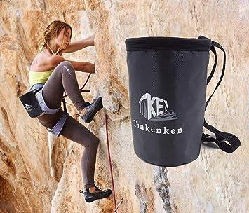 Hiwalker Magnesera de Escalada Bolsas de magnesio para Escalada con Bolsillo y cinturón para Alpinismo, Gimnasia, Levantamiento de Pesa