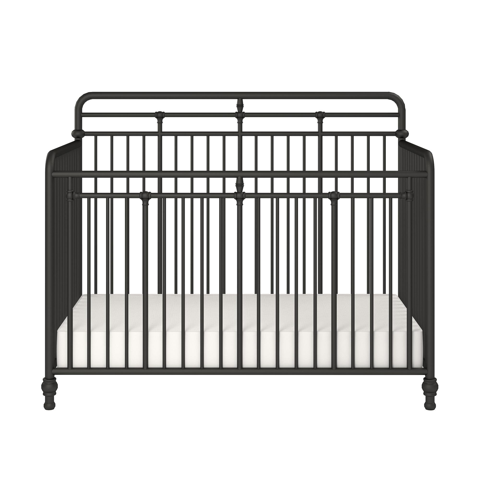 Little Seeds Monarch Hill Hawken 3 in 1 Convertible Metal Crib, Black by Little Seeds