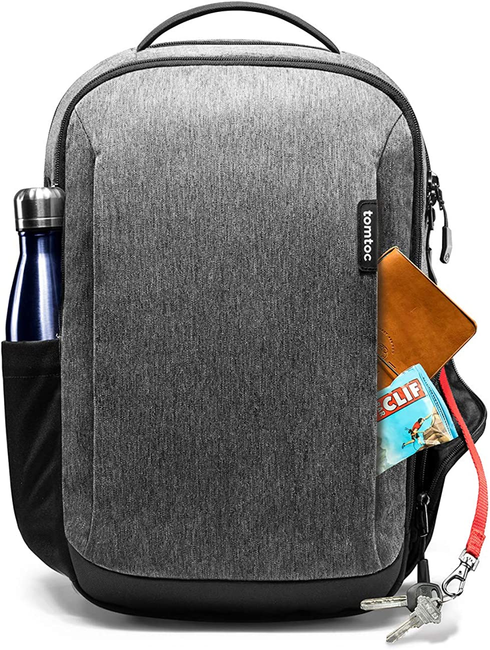 Travel Laptop Backpack, tomtoc Waterproof College School Bookbag Computer Bag for 15.6 inch Laptop, Business Backpack Daypack Rucksack with Many Pockets