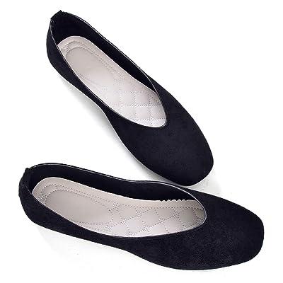 Stunner Women Retro Square Head Slip On Flat Ballet Shoes | Flats