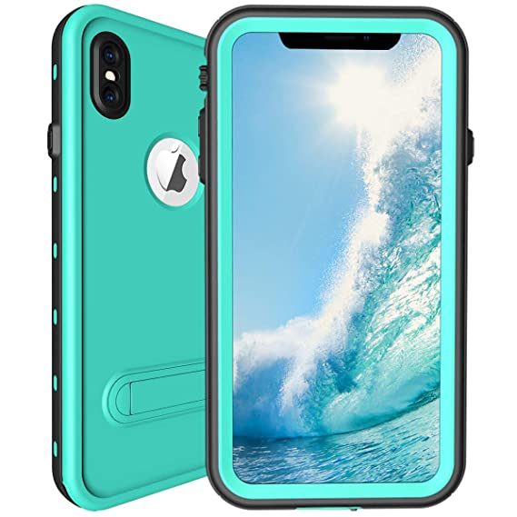 on sale 9a50c 1d340 ShellBox iPhone Xs Max Waterproof Case,Shockproof Snowproof Cover IP68  Underwater Full Body Rugged Protection Crystal Clear Built-in Screen  Protector ...