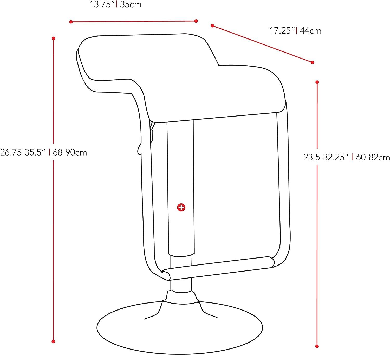 CorLiving B-612-VPD Adjustable Bar Stool with Footrest Set of 2
