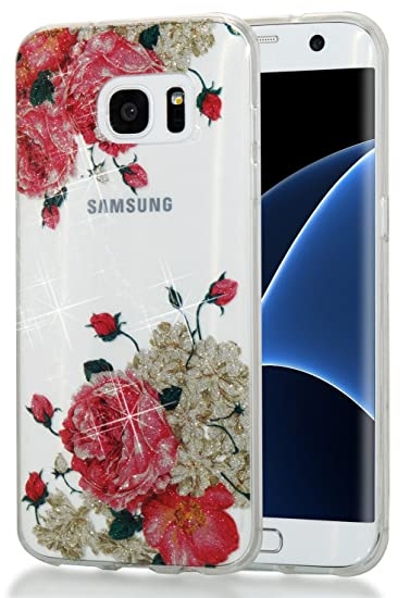 Galaxy S7 Case, Slim Soft TPU High Transparent Flash Powder MID Phone Cover  for SamsungS7 G9300 G930 G930F G930V G930A G930FD G930P G930U G930az