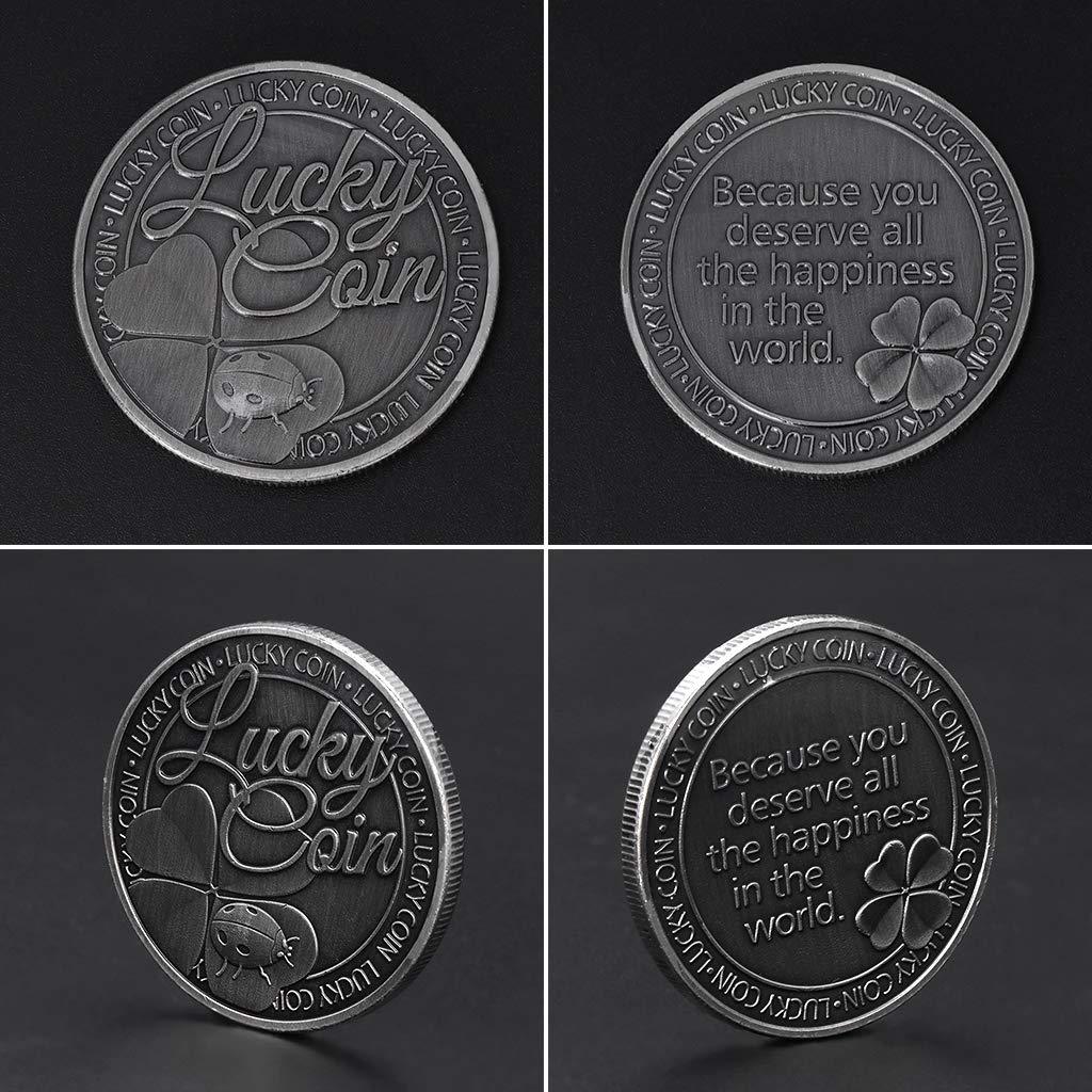 Jiamins Pi/èce Comm/émorative Pi/èce comm/émorative Bonheur col/éopt/ère Bonheur Collection dinsectes Arts Cadeaux Souvenir Commemorative Collectible Coin