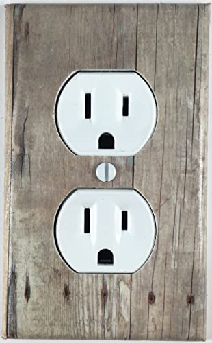 Amazon.com: Barn Wood Decor Design Decorative Outlet Wall Plate ...
