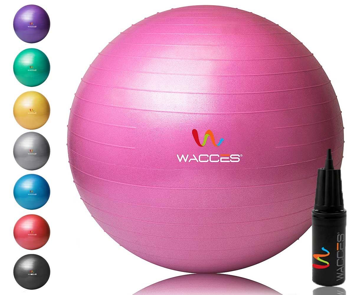 Wacces Yoga-Ball mit Handpumpe, Rosa, 75 cm Taradex 52N3