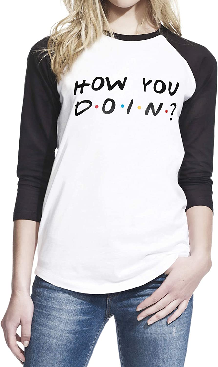 Pop Threads How You Doin 90s Quote Funny Retro Long Sleeve T-Shirt