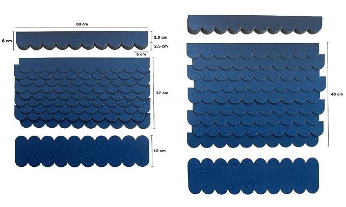 0,8m²,Mini-Dachschindeln Rot,Pappe,Vogelhaus,Holzgestell,Spielhaus,kanichenstall